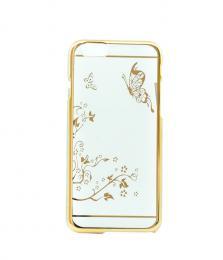 Transparentní plastový obal se zlatým motivem na iPhone 6/6s