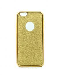 Silikonový obal na iPhone 6/6s se tøpytivým zadním blistrem, zlatý