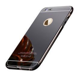 Stylový zrcadlový obal na iPhone 6/6s, èerný - zvìtšit obrázek