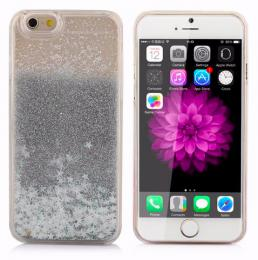 Obal na iPhone 5/5s, iPhone SE, nový hit obalu s tekutinou, barva støíbrná
