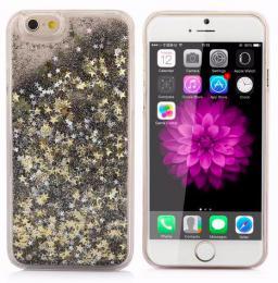 Obal na iPhone 5/5s, iPhone SE, nový hit obalu s tekutinou, barva èernozlatá