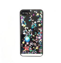 Obal/kryt na iPhone 5/5s/SE, pøesýpací tøpytky = nový hit obalu s tekutinou, vesmírný motiv