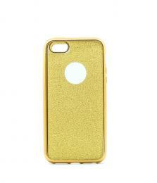 Silikonový obal na iPhone 5/5s, iPhone SE se tøpytivým zadním blistrem, zlatý