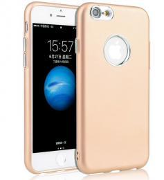 Silikonový obal na iPhone 7, zlatý