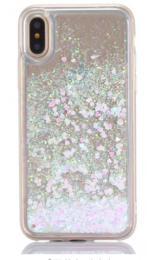 Obal na iPhone 5/5s, iPhone SE, nový hit obalu s tekutinou, barva bílá