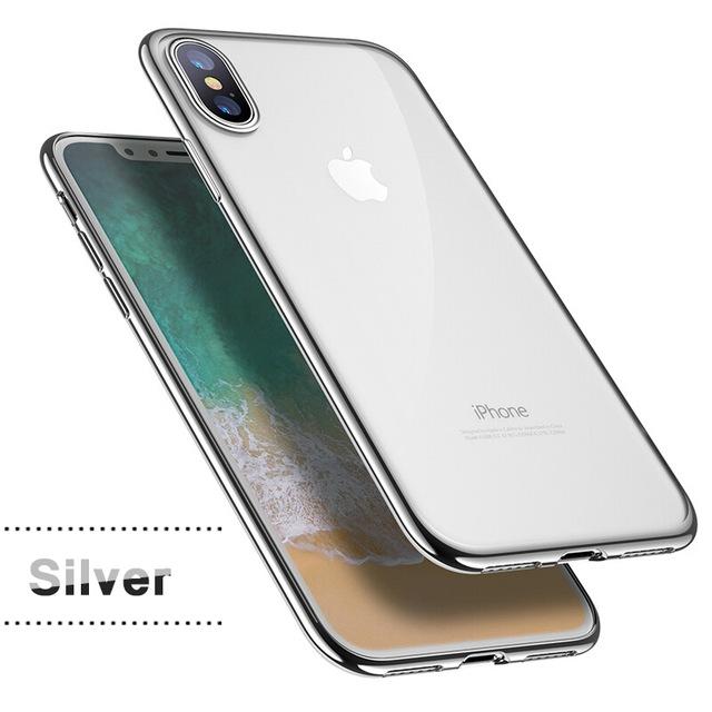 Silikonový ultratenký obal na iPhone X s pokovením fa0b32dad72