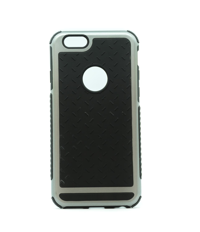 Nárazu odolný stylový obal na iPhone 6/6s, èerný se støíbrným rámeèkem