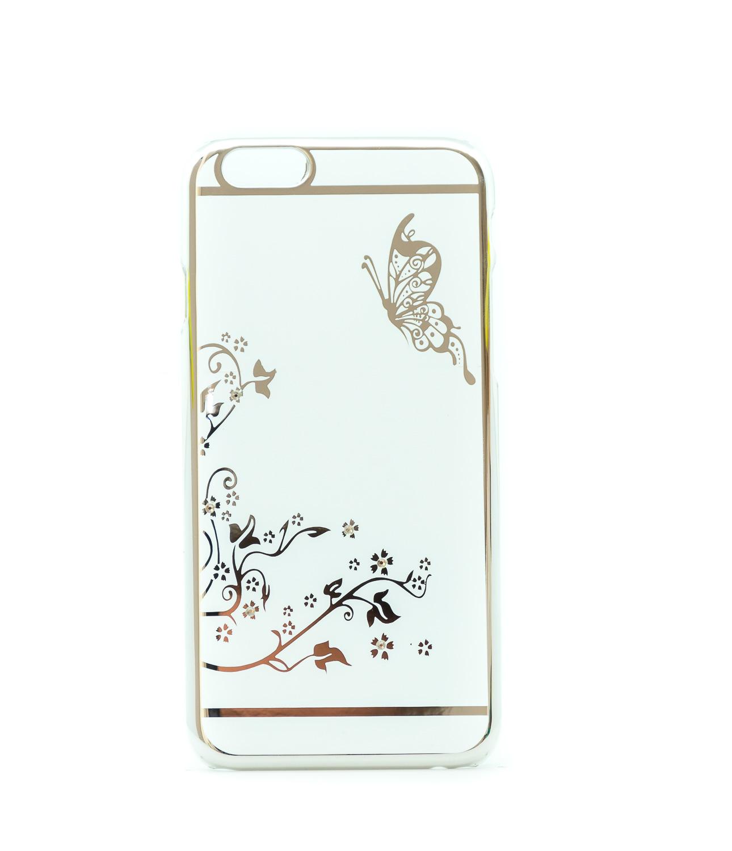 Transparentní plastový obal se støíbrným motivem na iPhone 6/6s